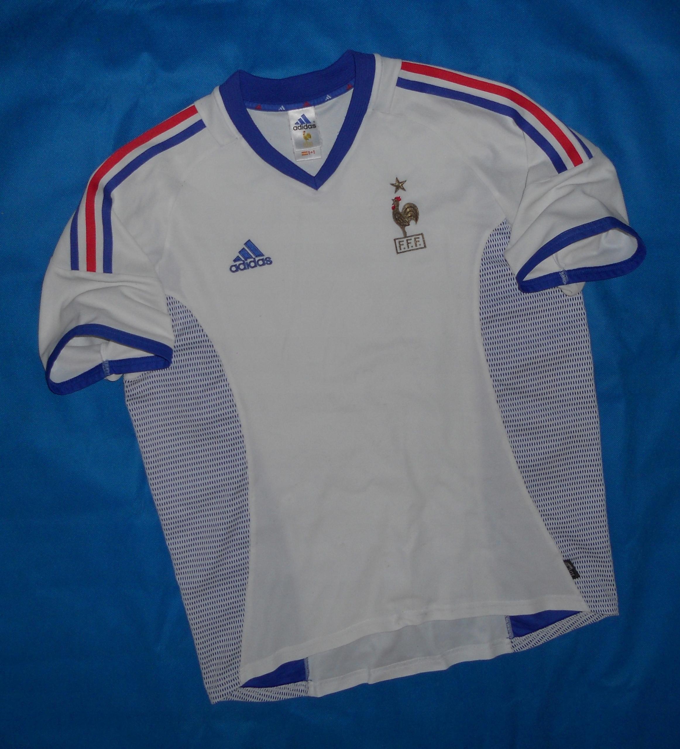 Francja National Adidas Away Shirt 2002 Unikat L