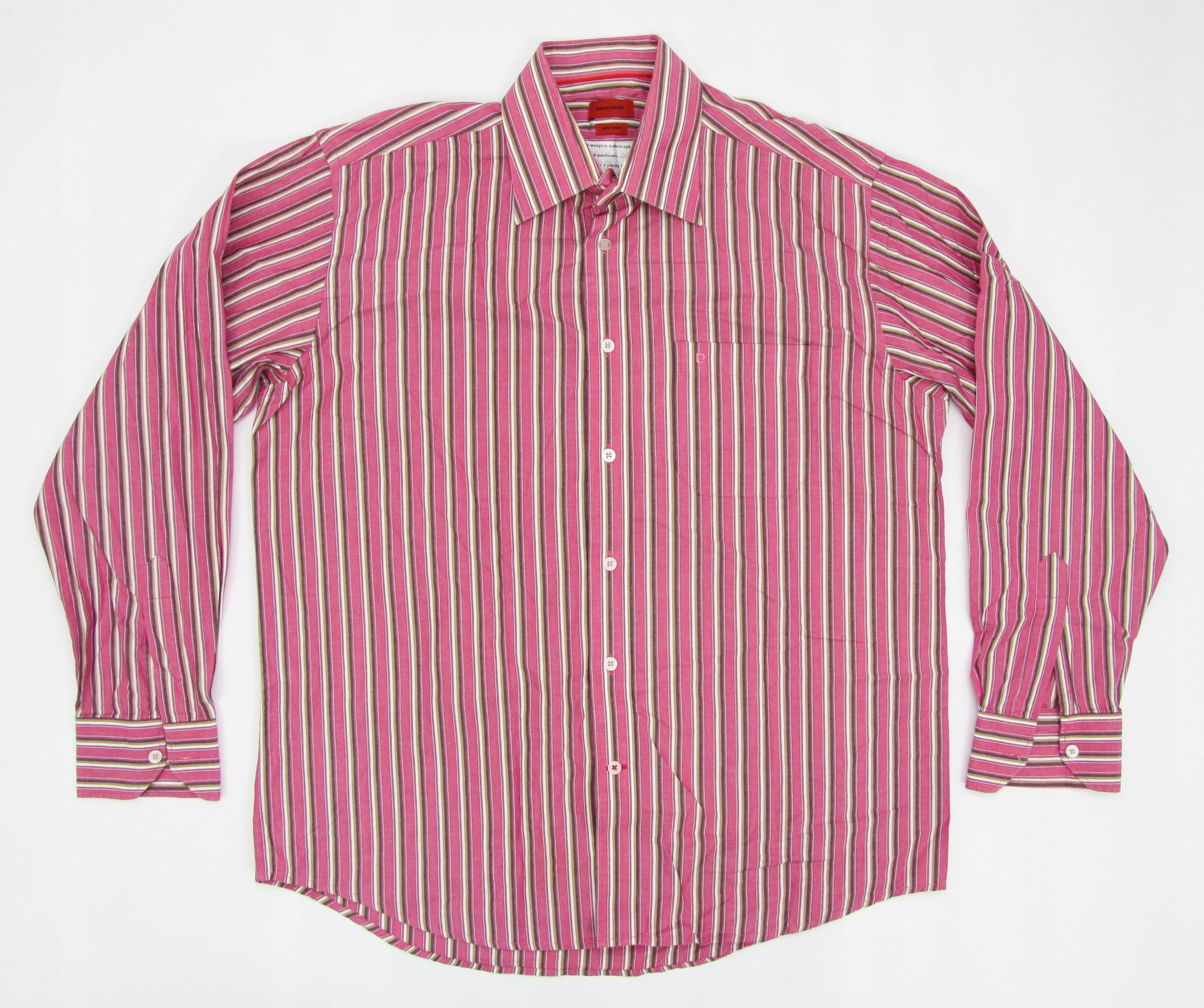 PIERRE CARDIN koszula męska MARKOWA PASKI rozm XL