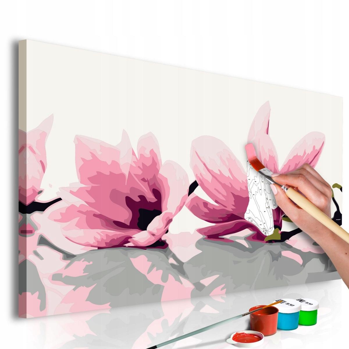 Obraz do samodzielnego malowania - Magnolia (białe