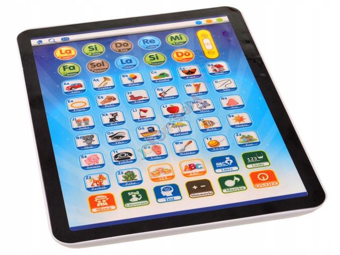 TABLET iPad dotykowy Edukacyjny J. Polski DZIECI