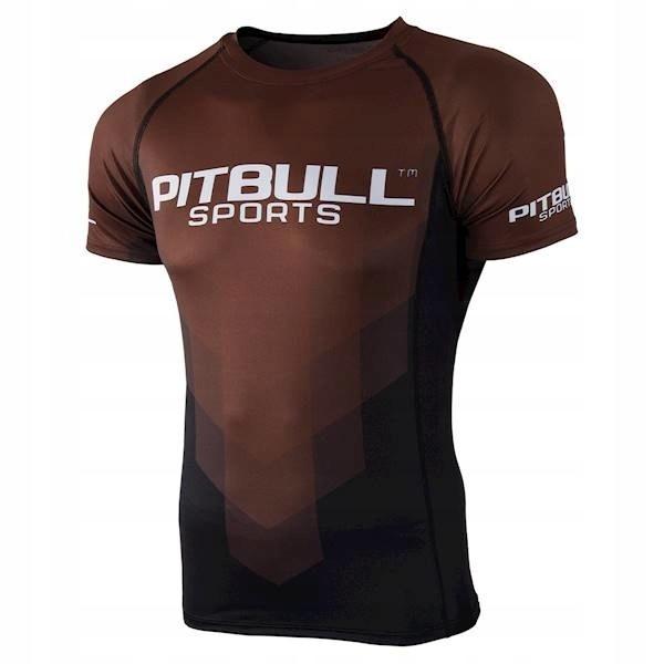 Rashguard PIT BULL Brown Belt koszulka MMA KSW r.M