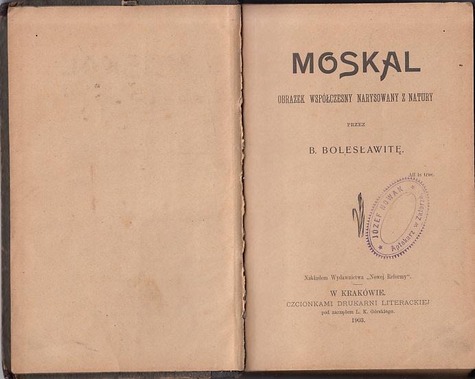Bolesławita - Moskal - wyd.1903