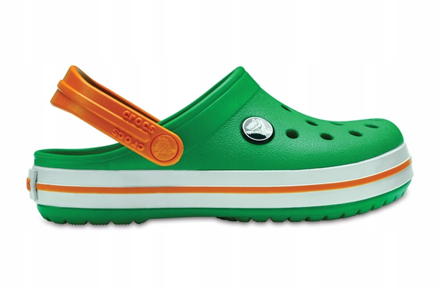 Klapki Crocs 204537 GRASS GREEN/WHITE/BLAZING 33,5