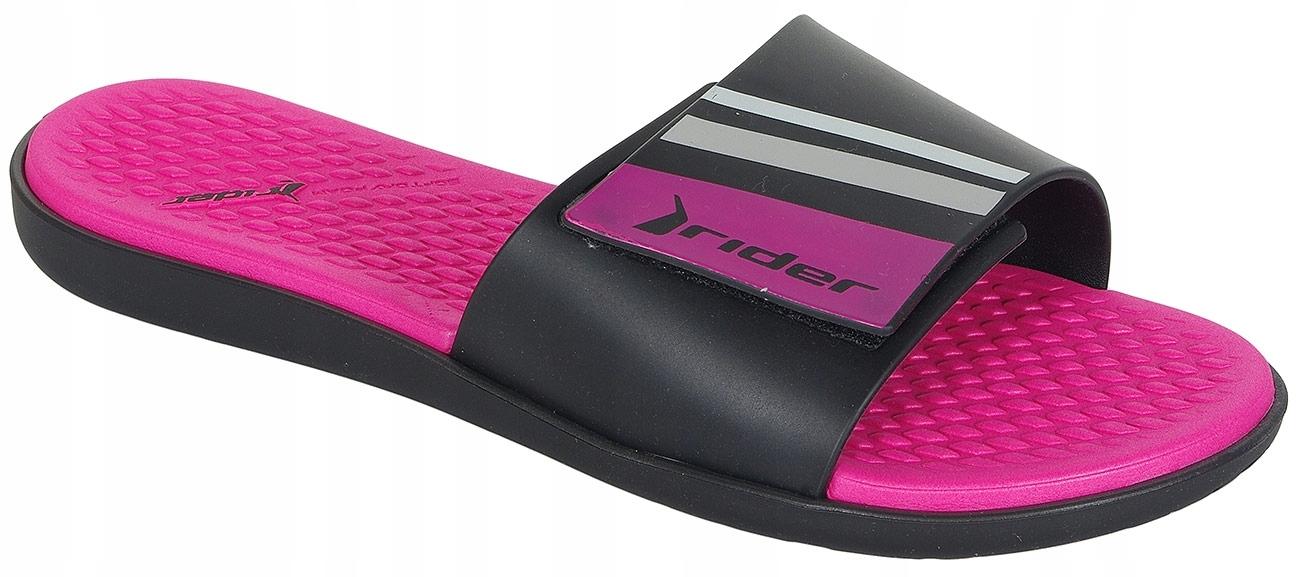 Rider Pool Fem klapki black/pink 40