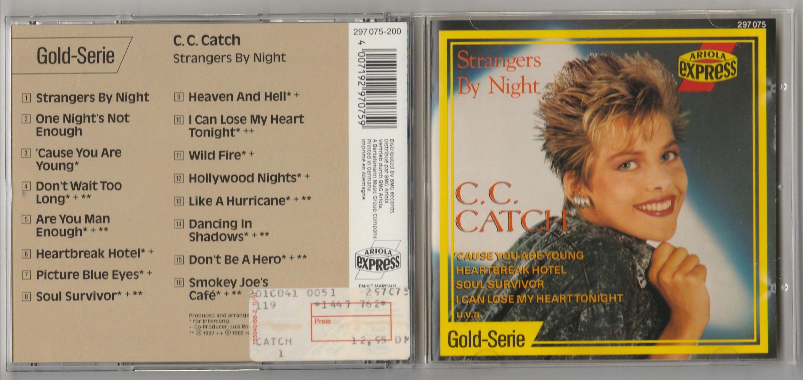 C C CATCH Strangers By Night CD 1988 IDEALNA NM !
