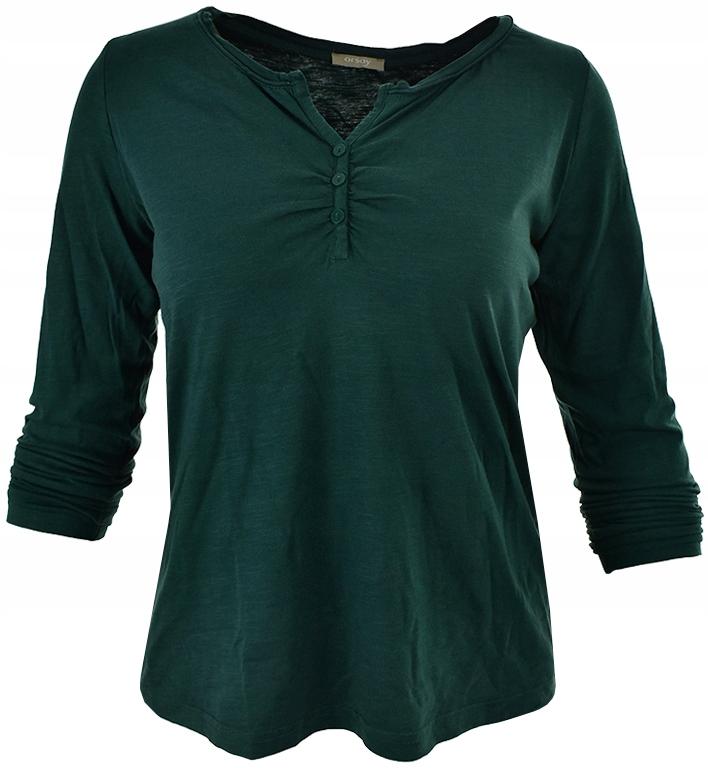gLL4396 ORSAY zielona klasyczna bluzka 44