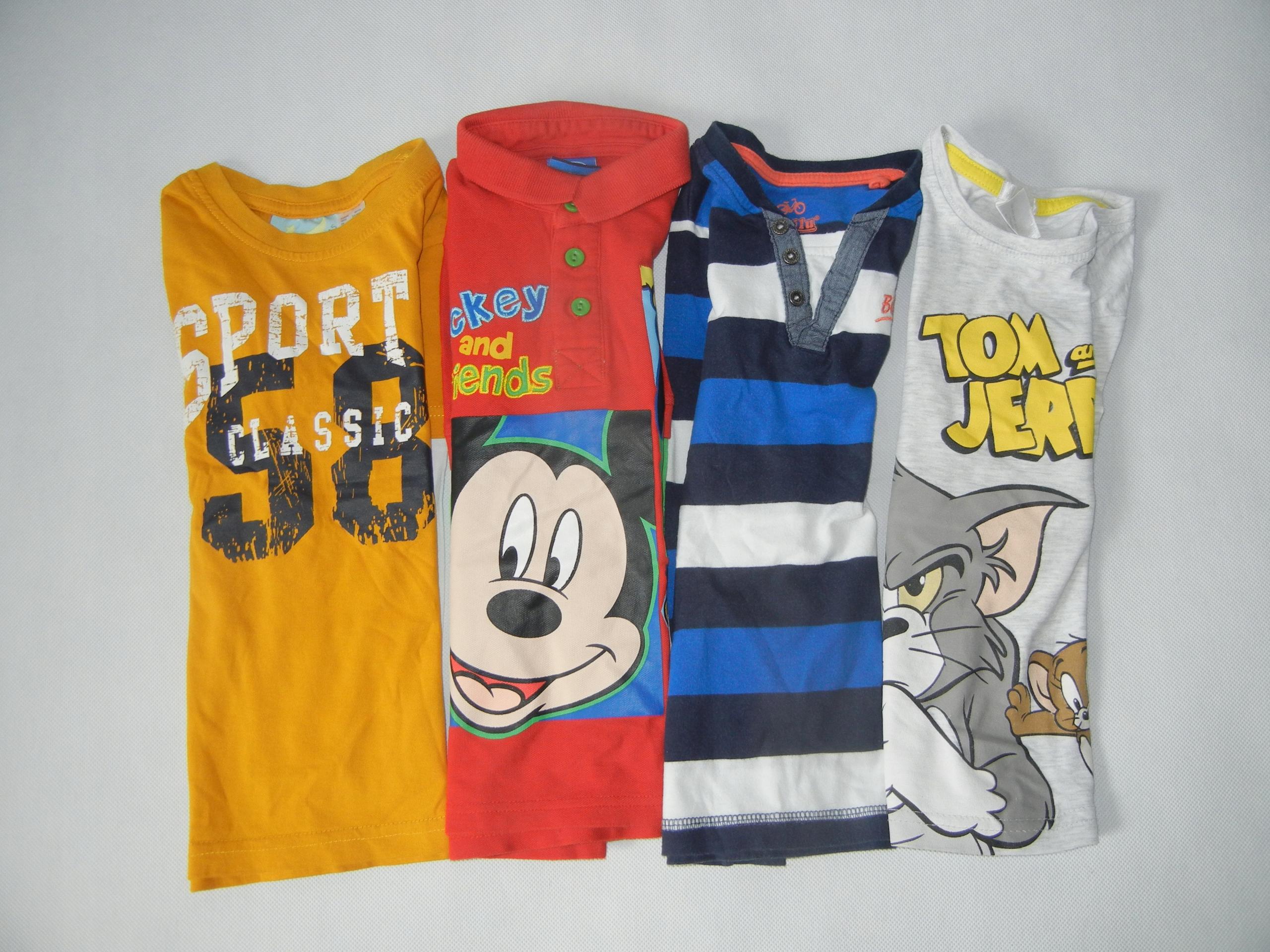 Bluzka 4 pack długi rękaw r.98-104 dla 2-4 latka