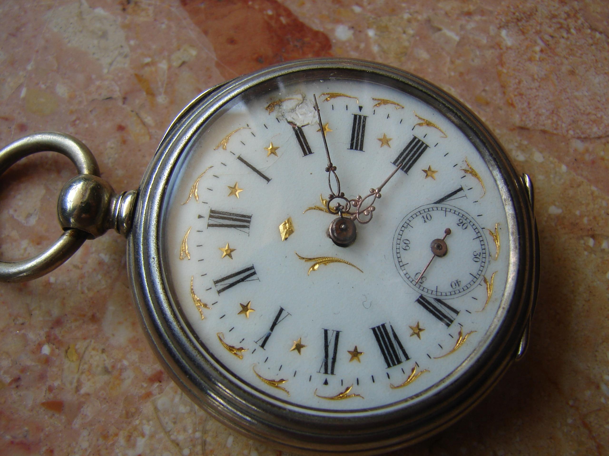 H.G.K. - stary zegarek kieszonkowy