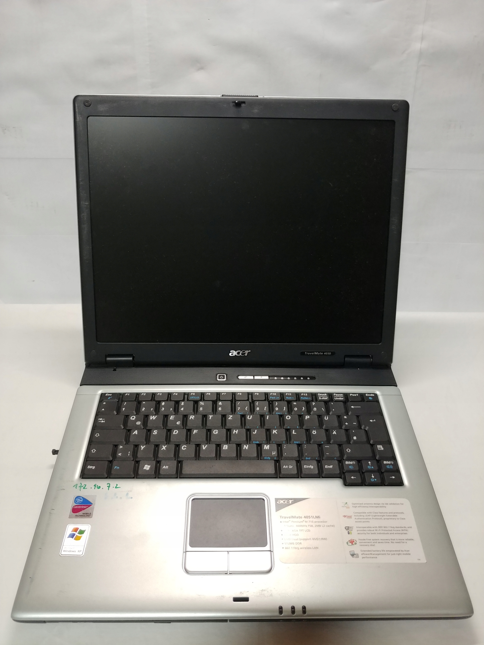 Laptop ACER TravelMate 4050
