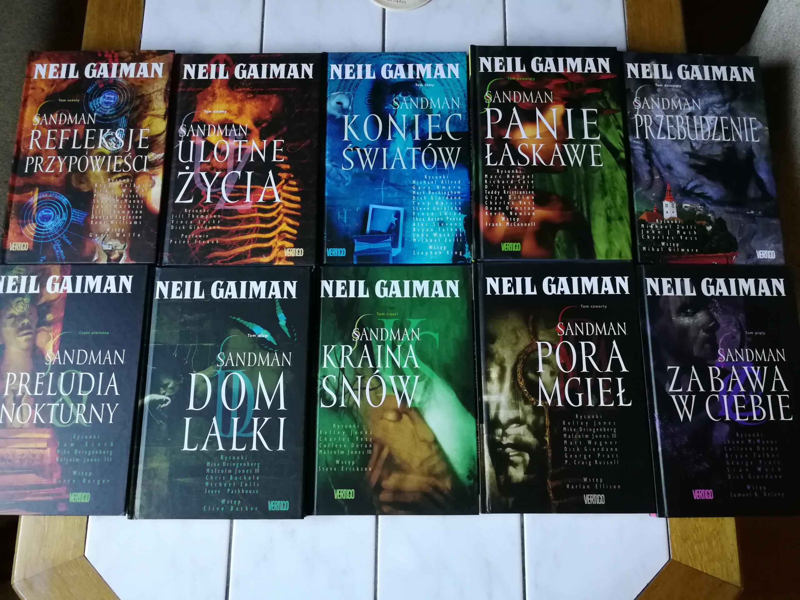 Neil Gaiman - Sandman - Tomy 1 - 10 Komplet