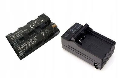 * Ładowarka 230V/12V + akumulator NP-F960 NP-F970
