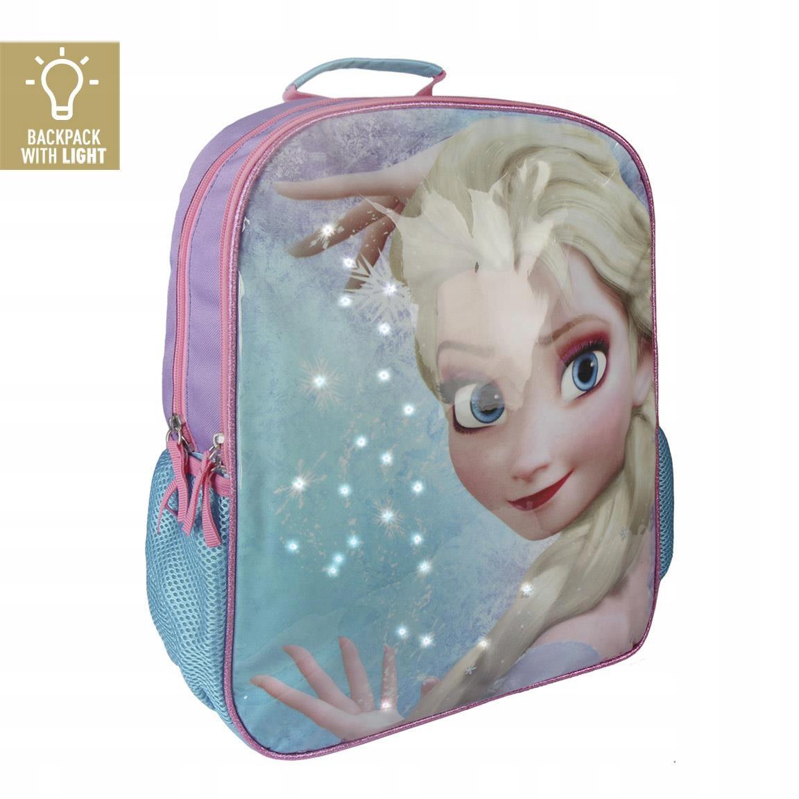 Plecak szkolny FROZEN Elza oświetlenie LED 40cm