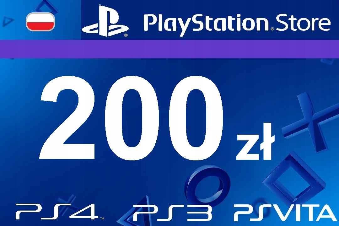 PlayStation 200 zł PSN Network Store Kod PS4 PS3