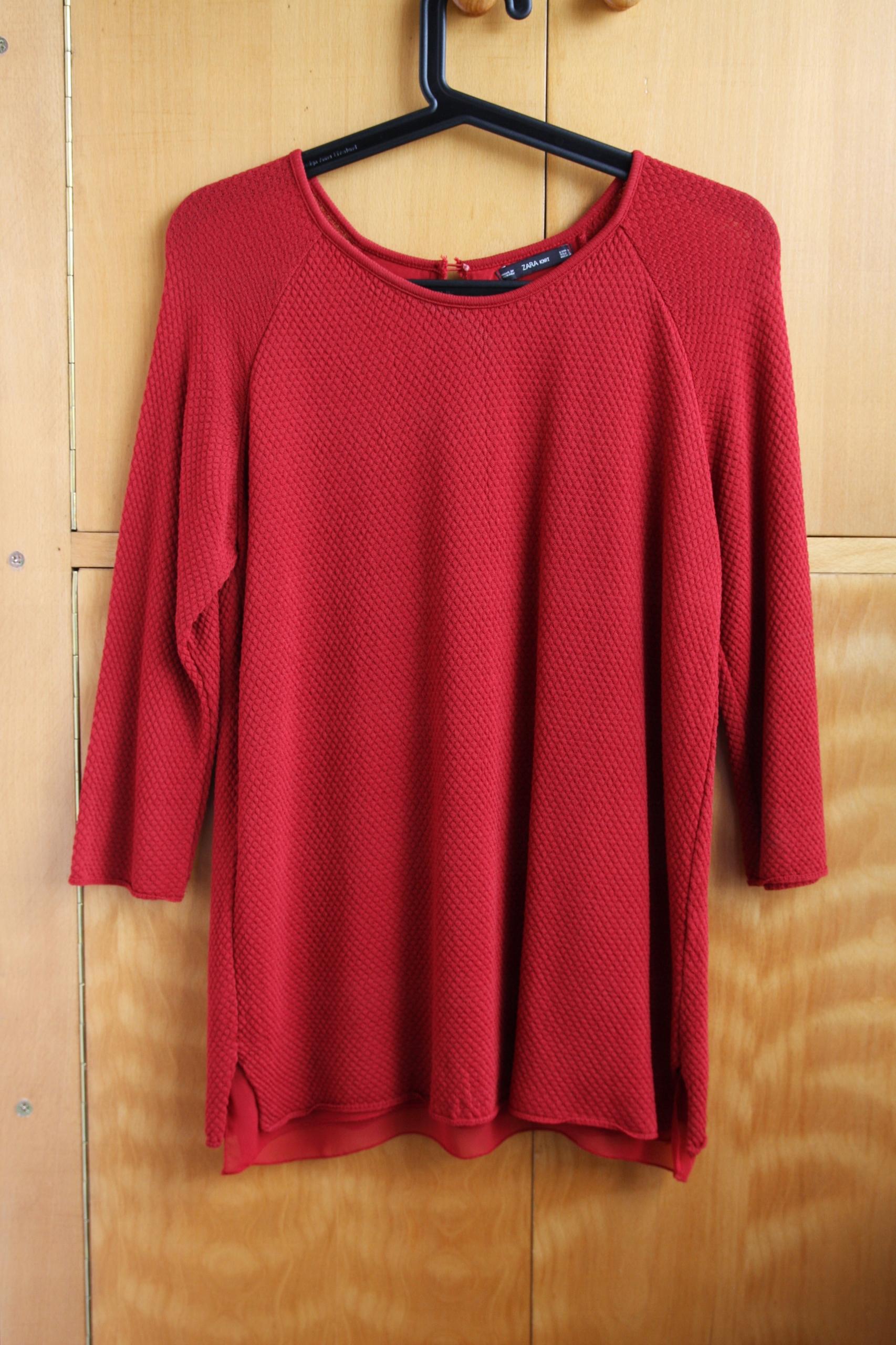 Cieniutki sweterek Zara L wiosna/lato