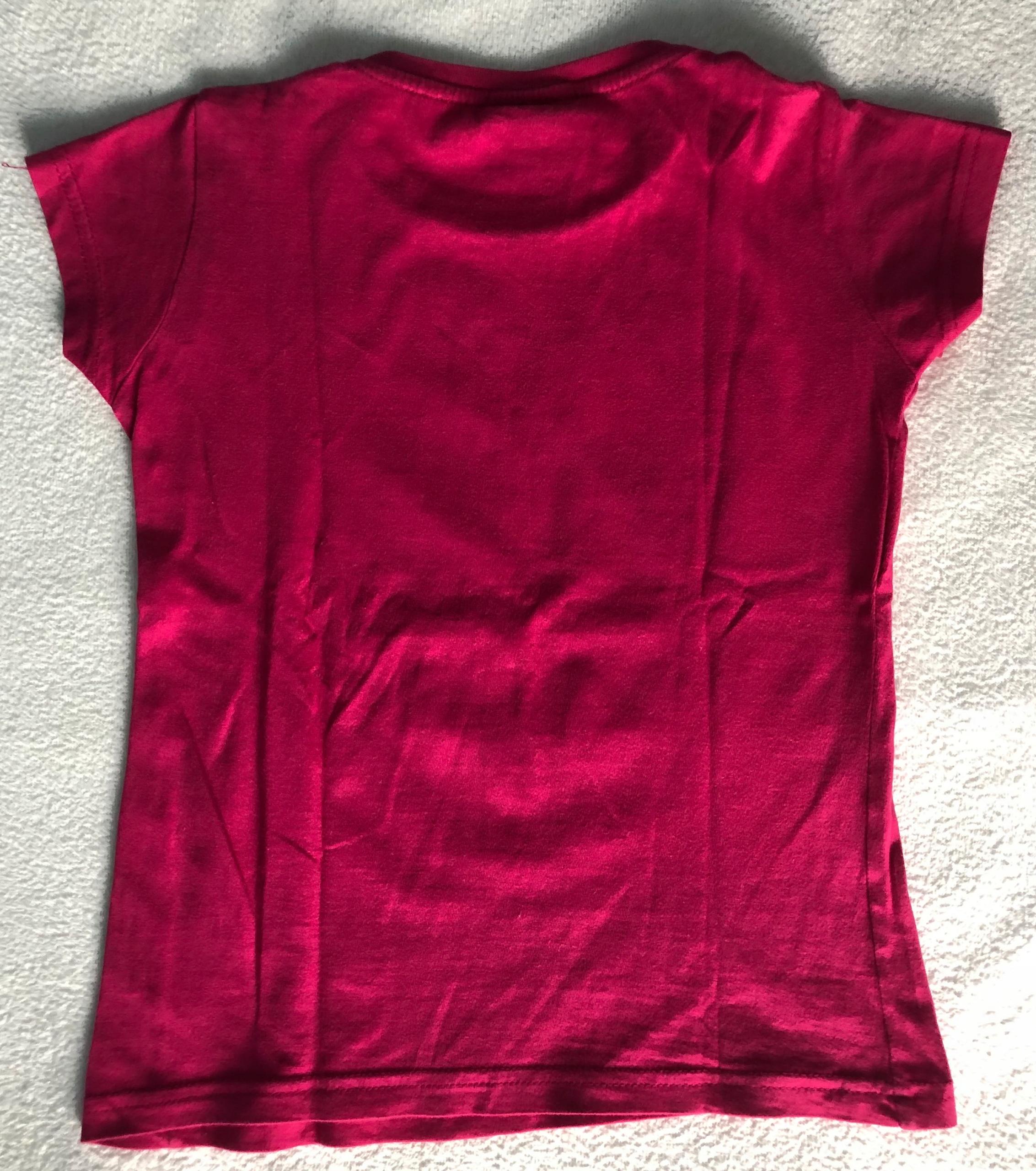 Różowa koszulka Paris rozm.10 lat