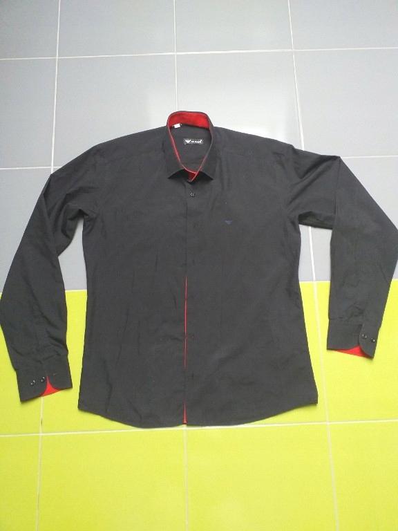 Armani czarna elegancka koszula Xl