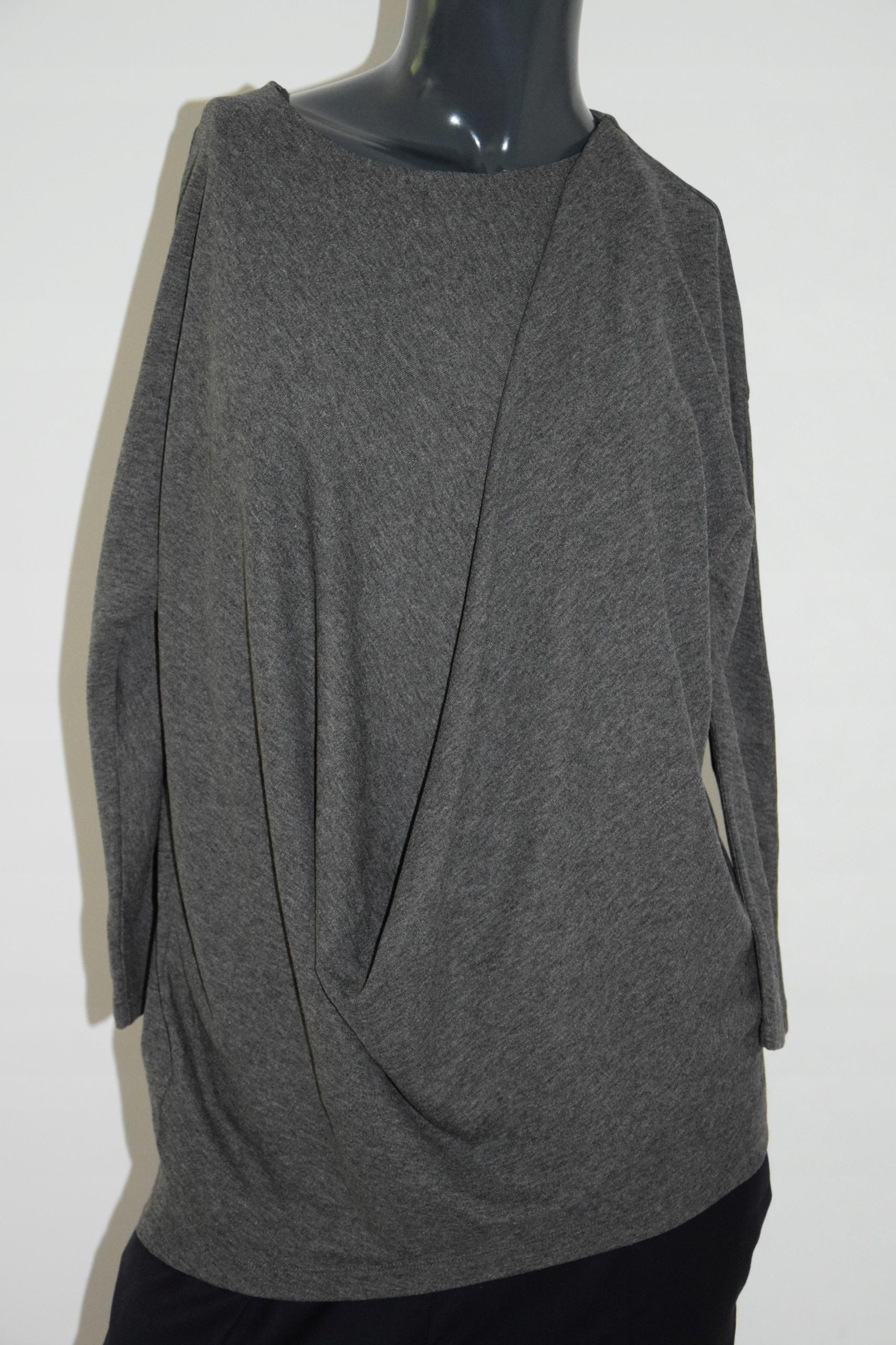 cos szara bluzka drapowanie wiskoza melanż XS/S 34