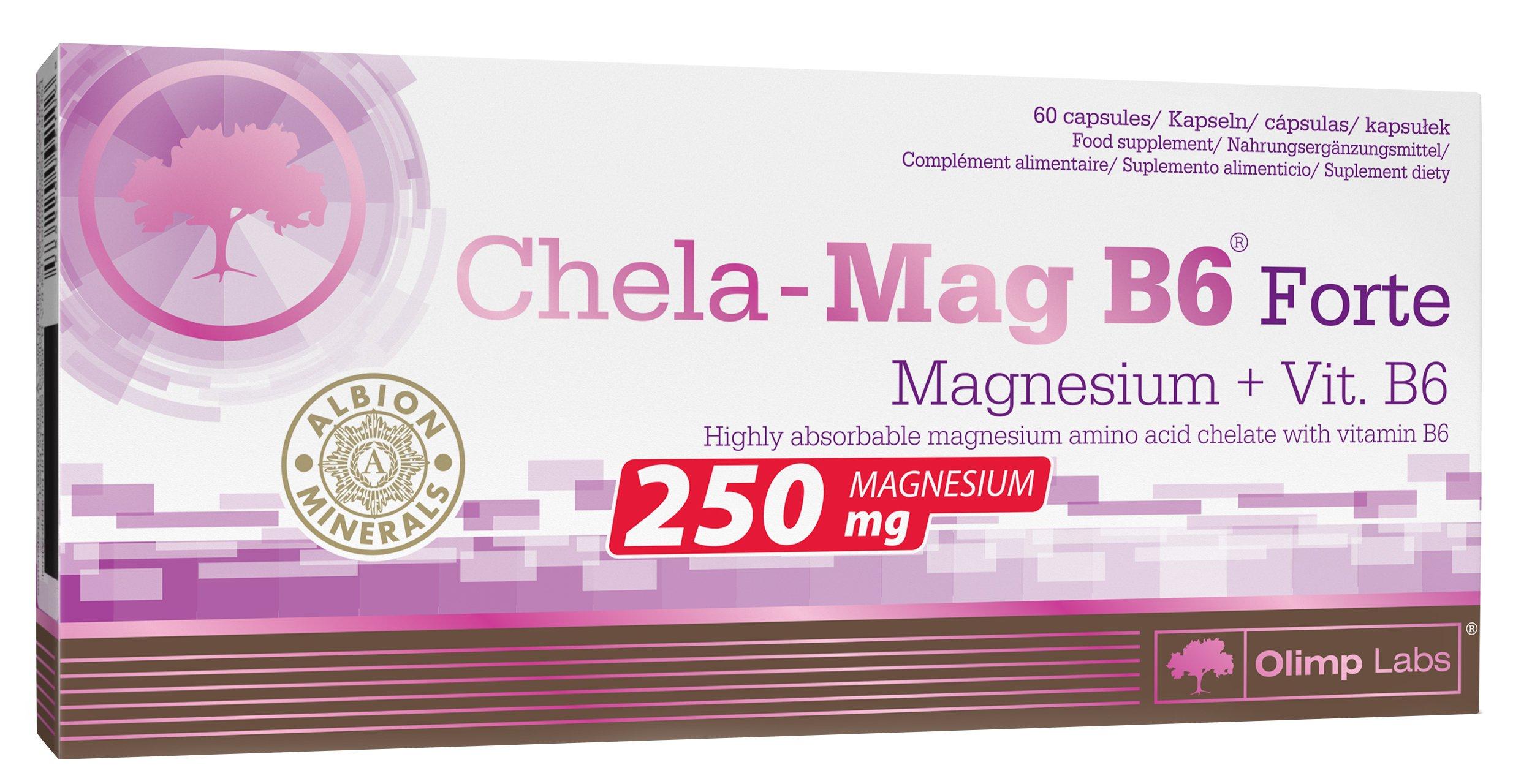 OLIMP CHELA MAG B6 FORTE 60kaps MAGNEZ MIĘŚNIE