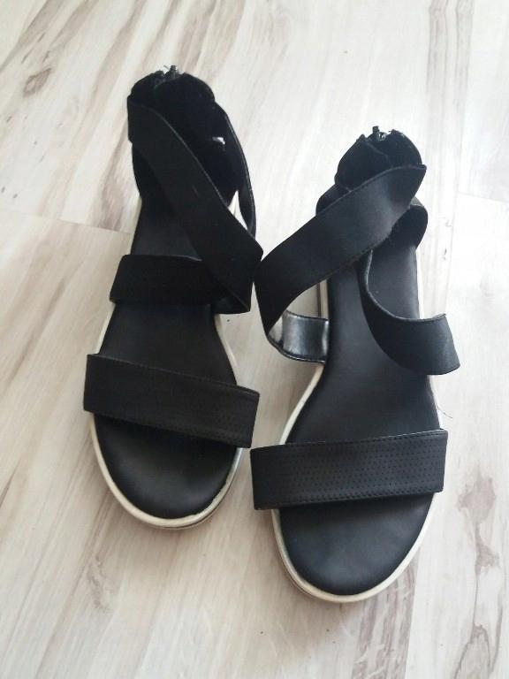 czarne Sandały 36