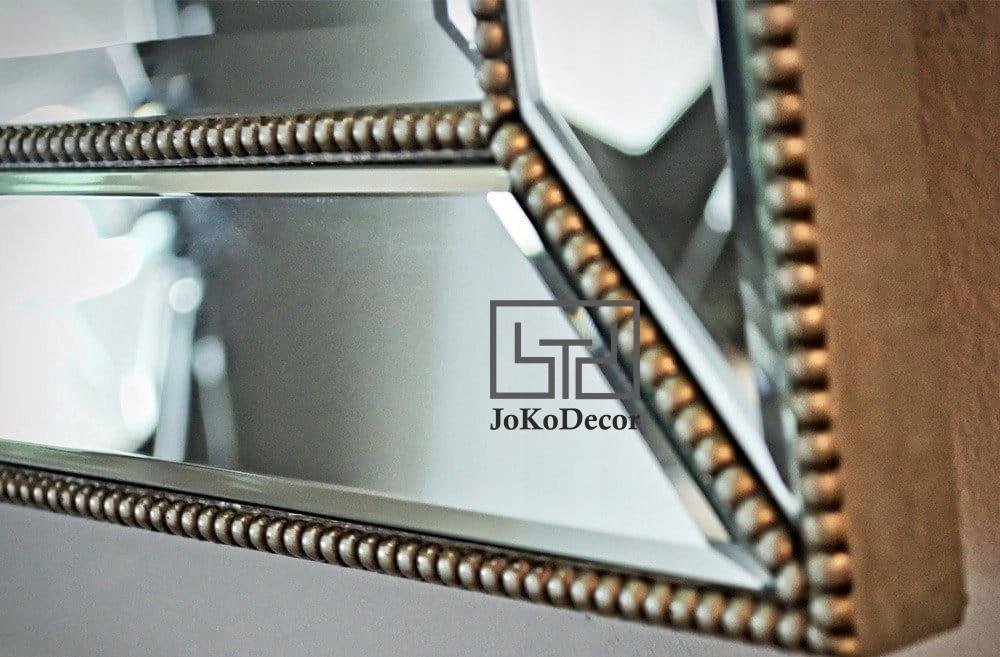 Lustro w Ramie Lustrzanej Nadira Glamour 90x150cm
