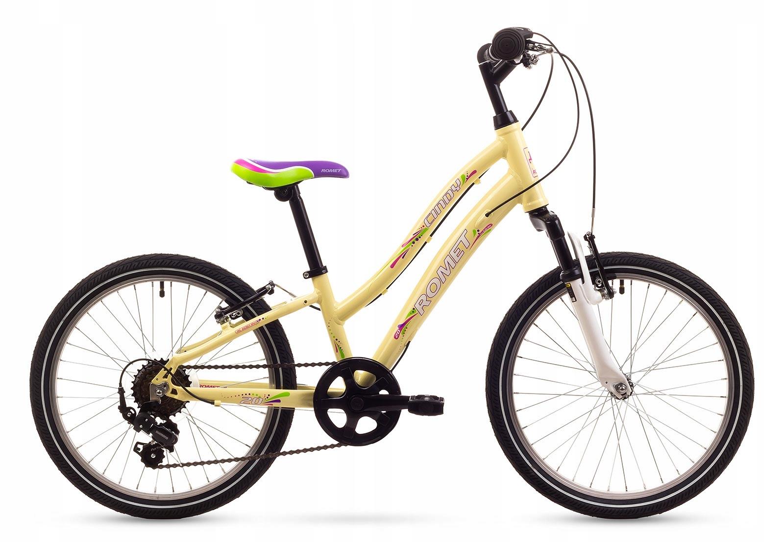 Rower Dziecięcy ROMET Cindy 20 kremowy