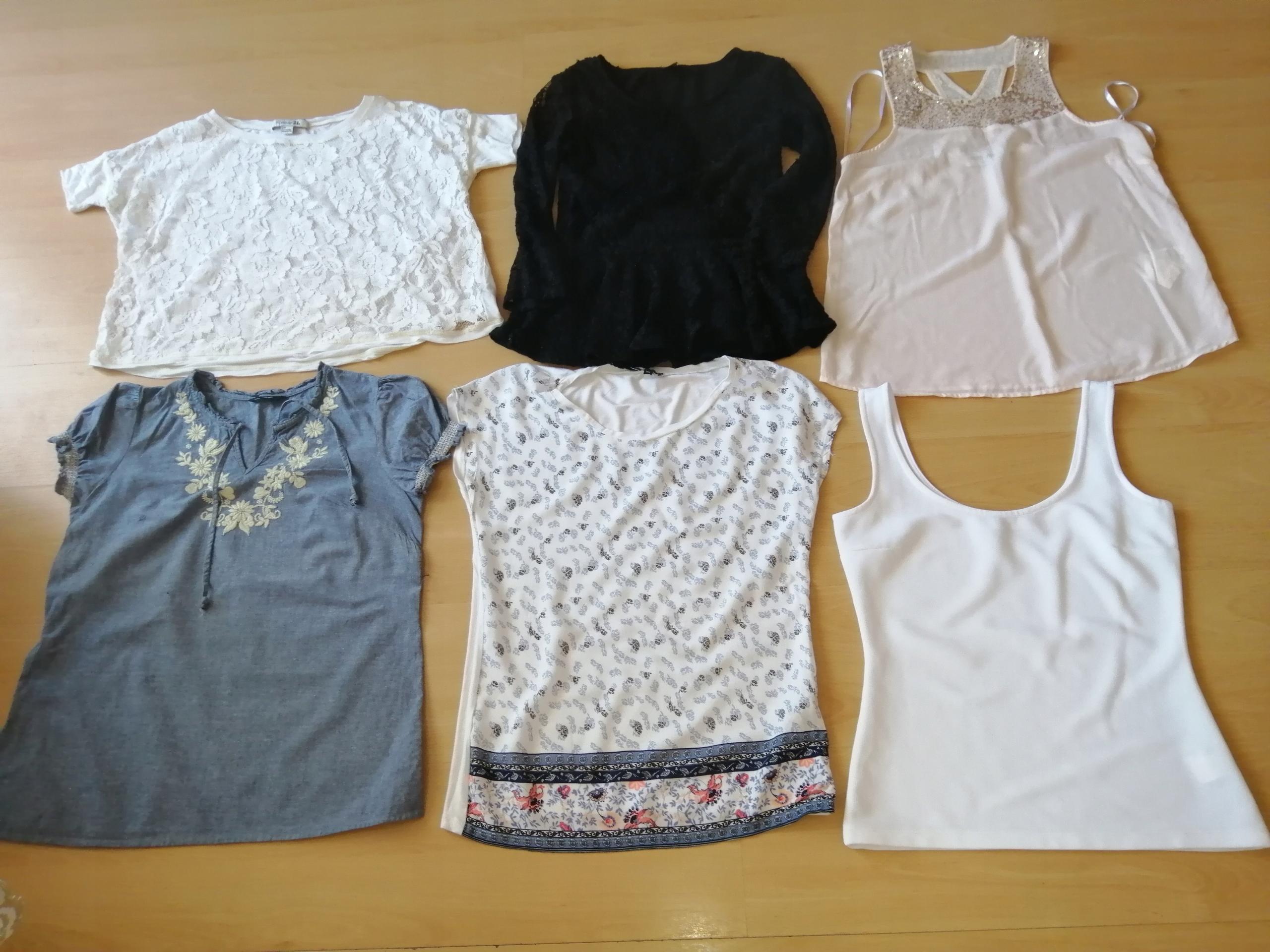 Bluzki 6 sztuk rozmiar 36-małe 38