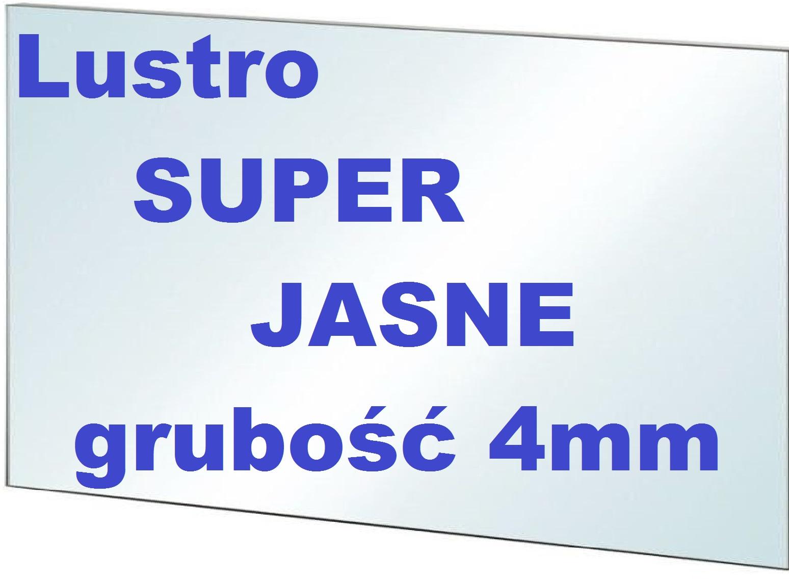Lustro Na Wymiar Optiwhite Super Jasne Grubość 4mm