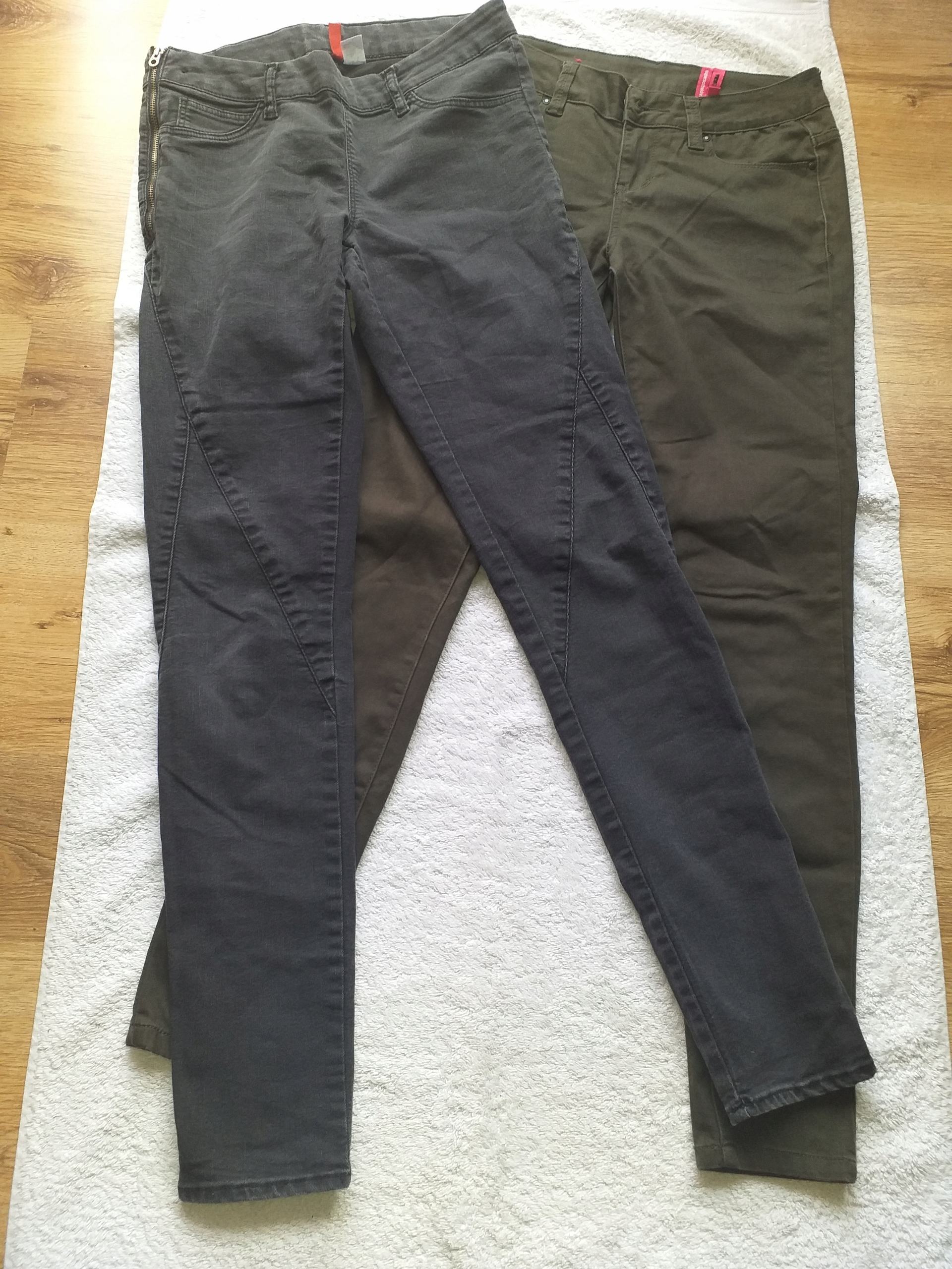 H&M 2x spodnie dziewczęce/ damskie 164-170
