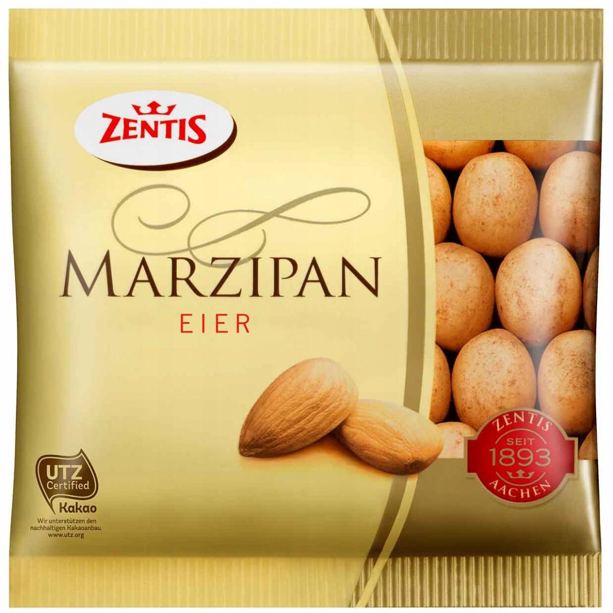 Zentis marcepanowe jajeczka w kakaowej posypce