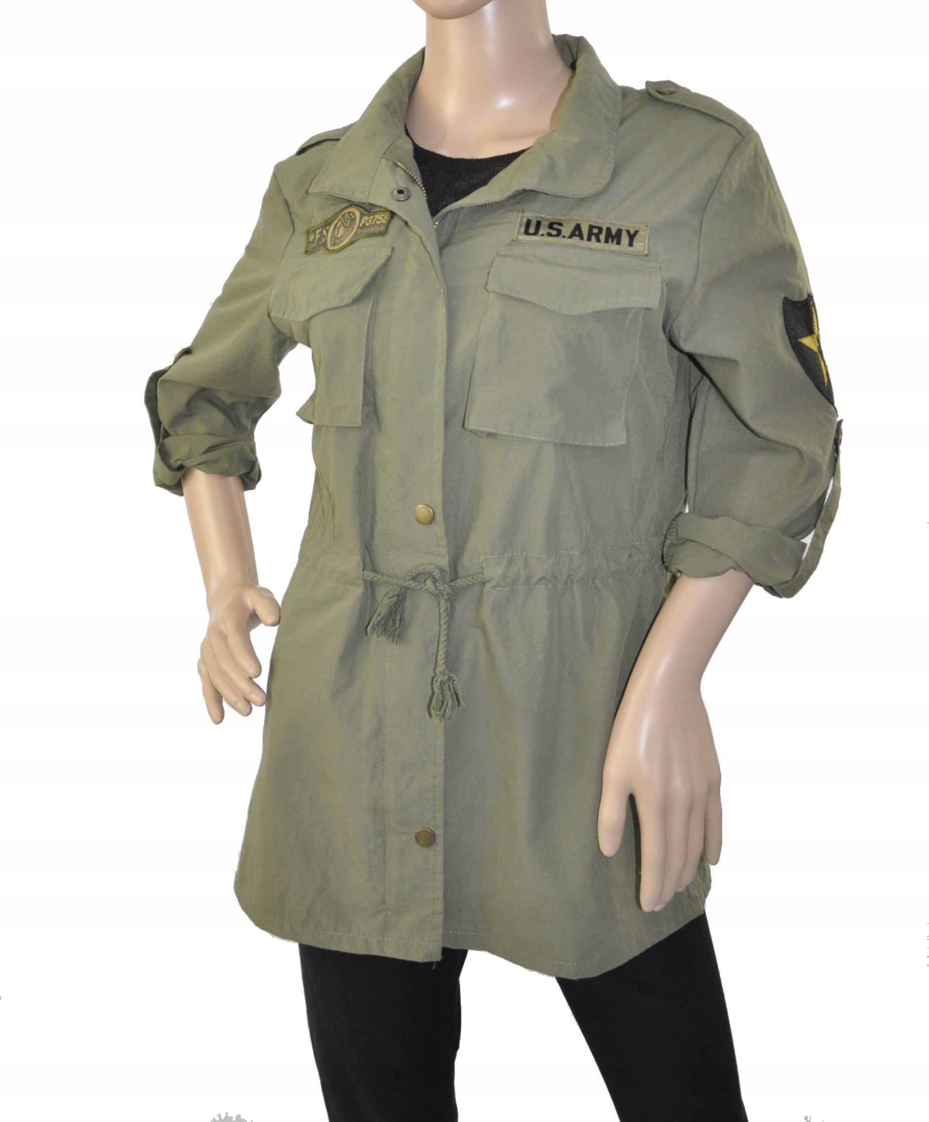 US ARMY KOSZULA MILITARNA khaki z Maryją S 36