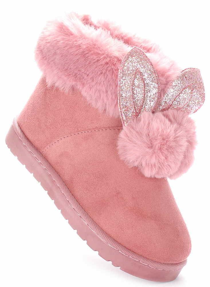 af32ec9e Buty zimowe botki dziecięce kozaki Różowe 1168 33 - 7111487018 ...