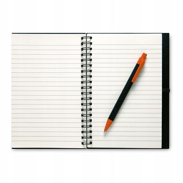 Notes w linie z długopisem LIGNEX pomarańczowy