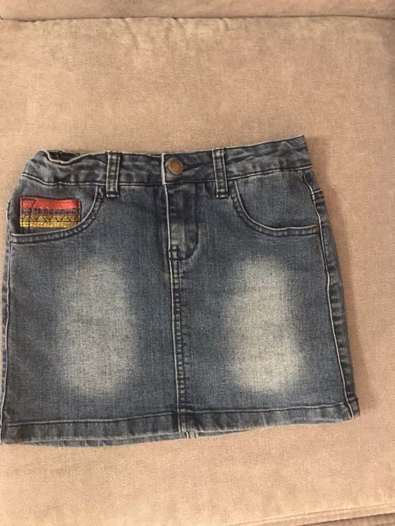 Spódniczka dżinsowa dziewczęca r.134