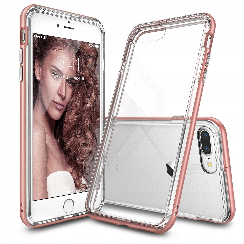 Etui Ringke Fusion Frame iPhone 7 Plus Rose Gold