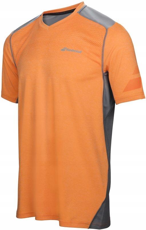 Babolat Performance V Neck Tee Men - orange XL