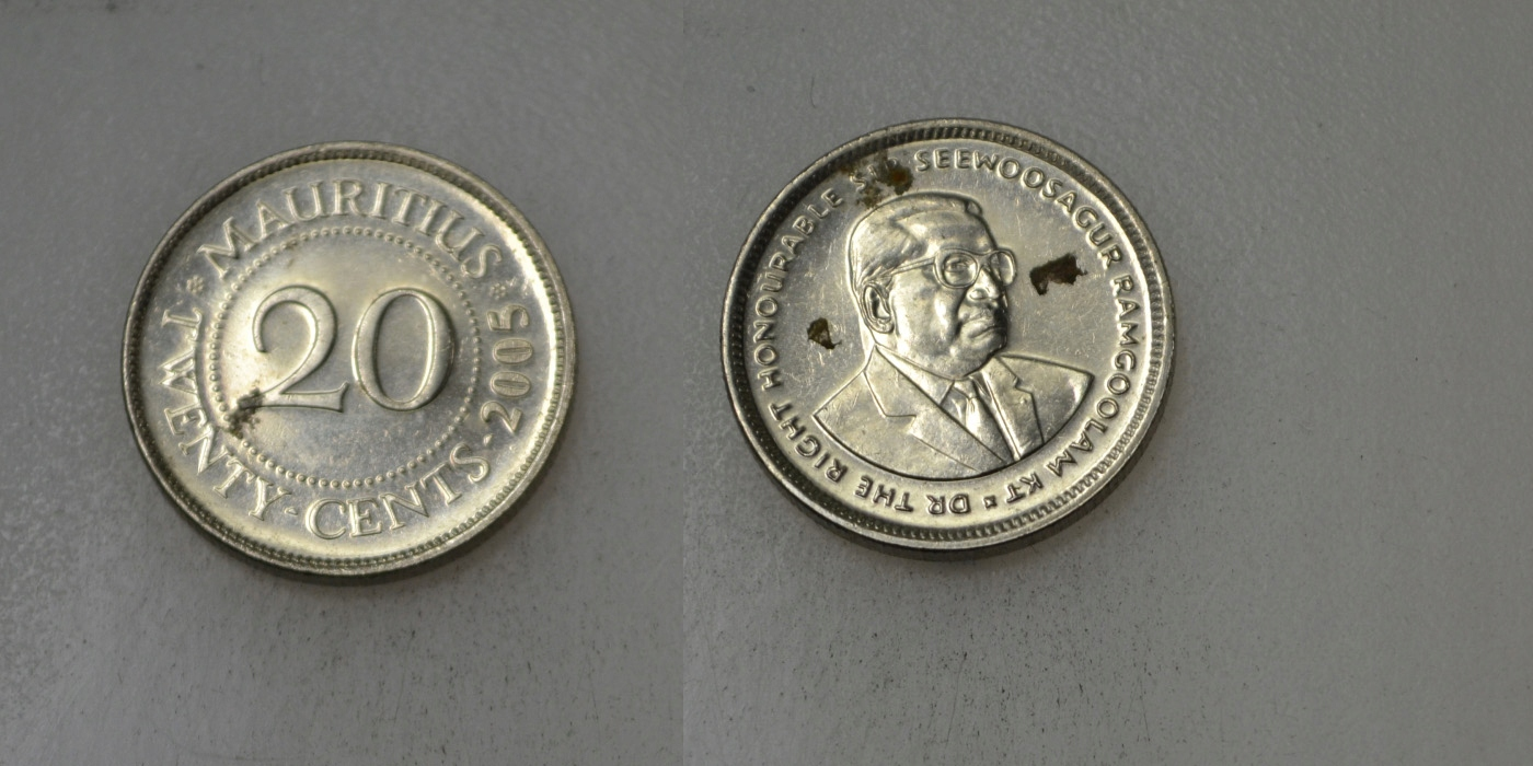 Mauritius 10 Cents 2005 rok BCM