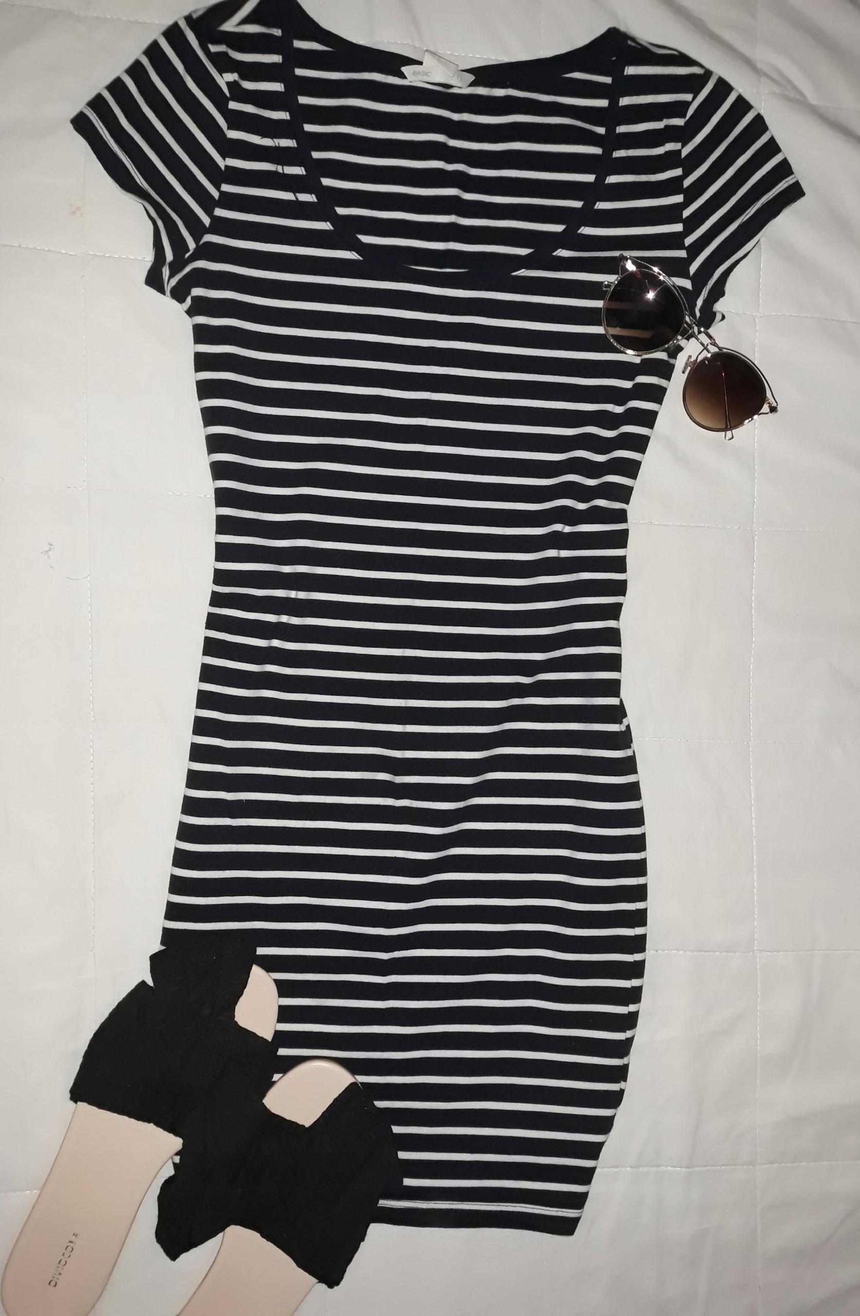 Sukienka marynarska H&M mini 36/S
