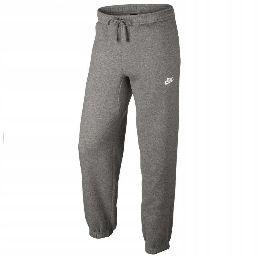 Spodnie Męskie dresowe Nike kieszenie szar XL