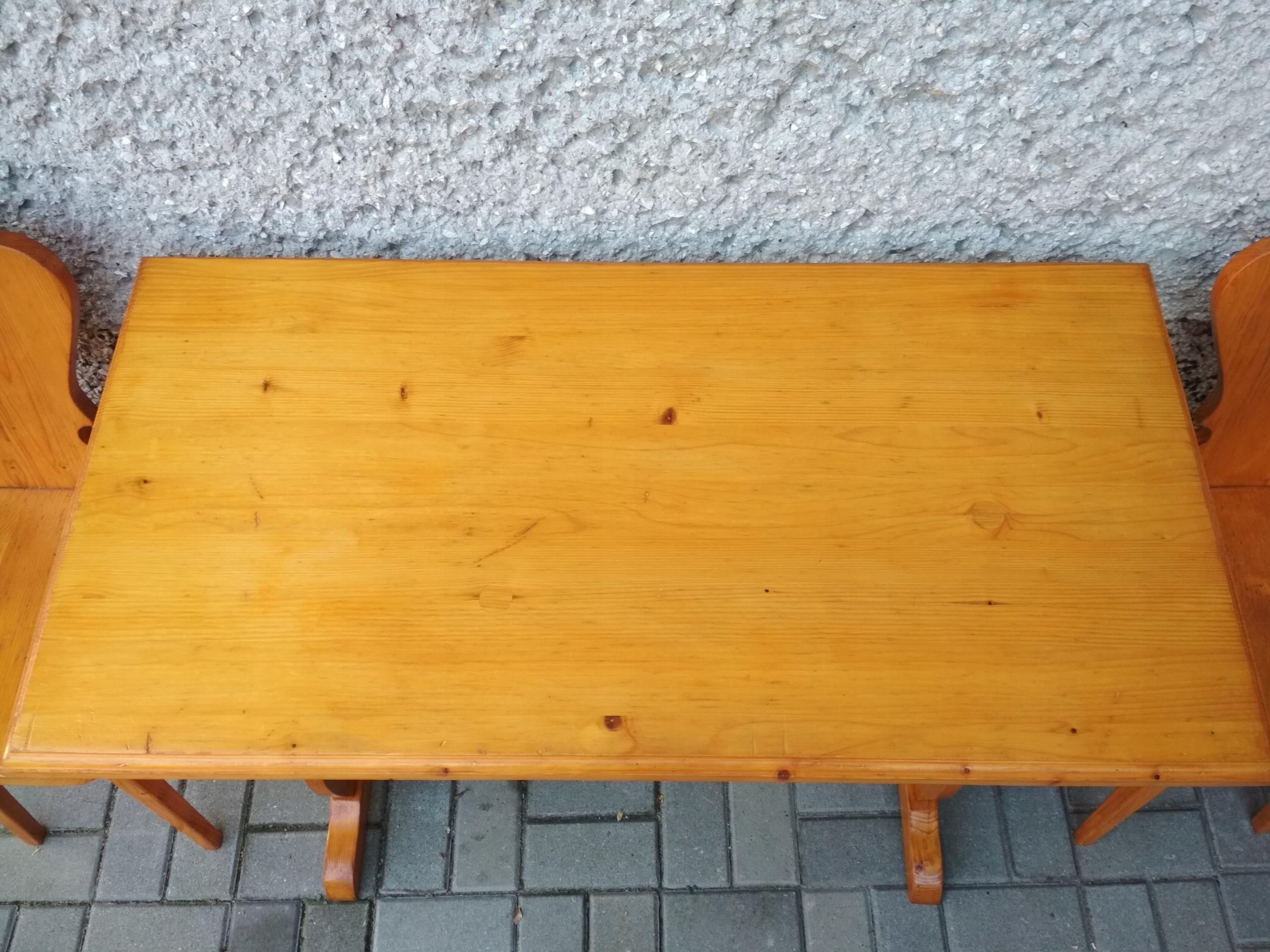 Młodzieńczy Ława stół góralski + stołki krzesła zydle - 7685157234 - oficjalne JU14