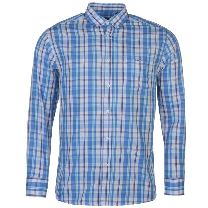Koszula Męska PIERRE CARDIN krata bawełna rozm XL
