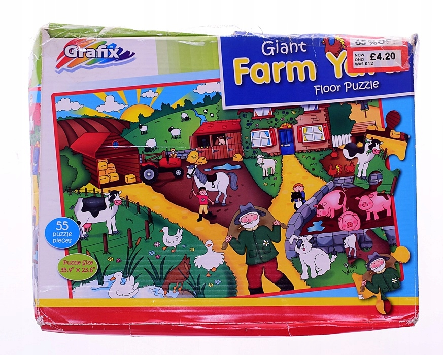 5653-4 ...GRAFIX FARM YARD... p#s DUZE PUZZLE 55