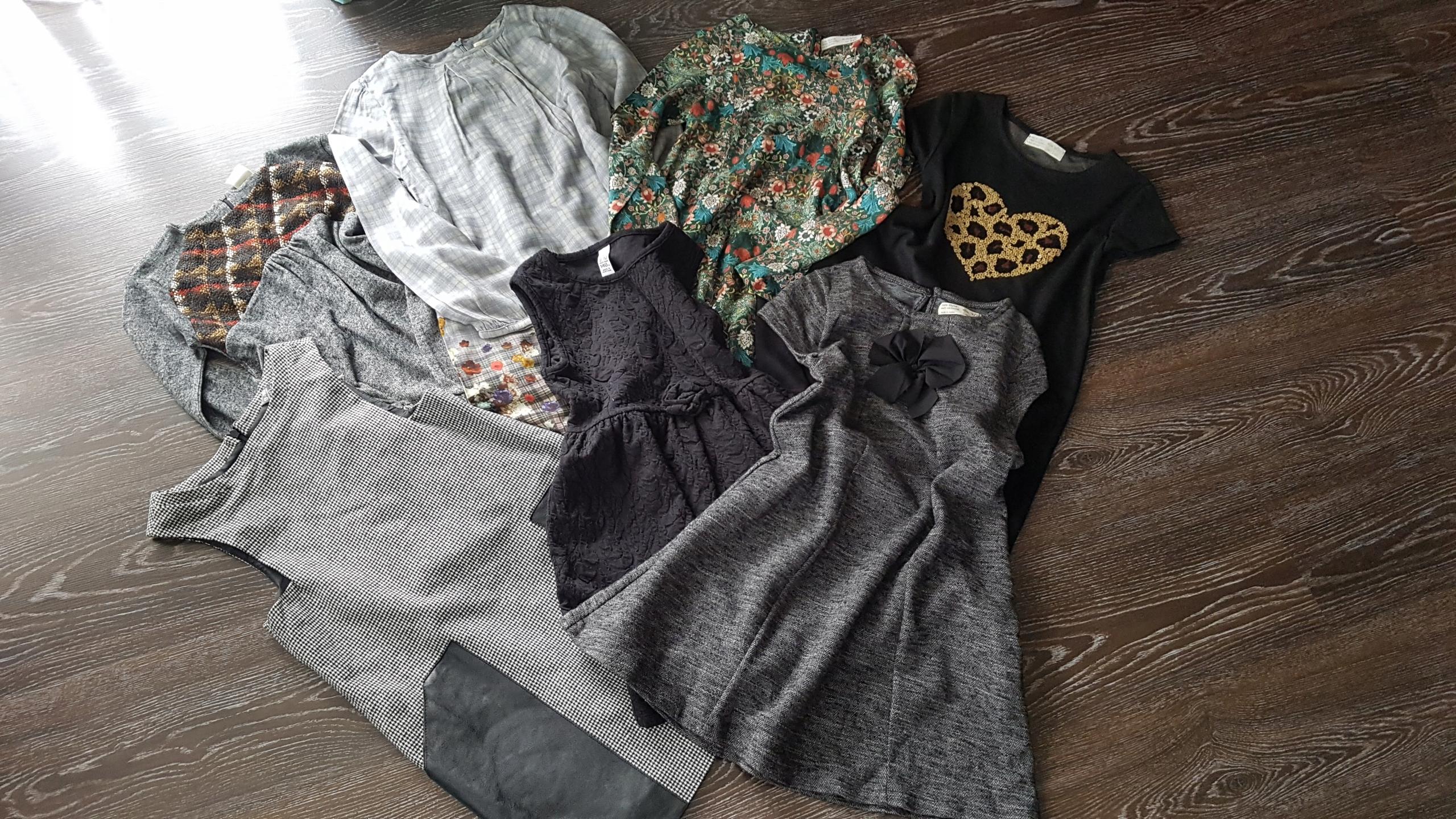 Dziewczynka 140 Zara H&M zestaw 85szt lato