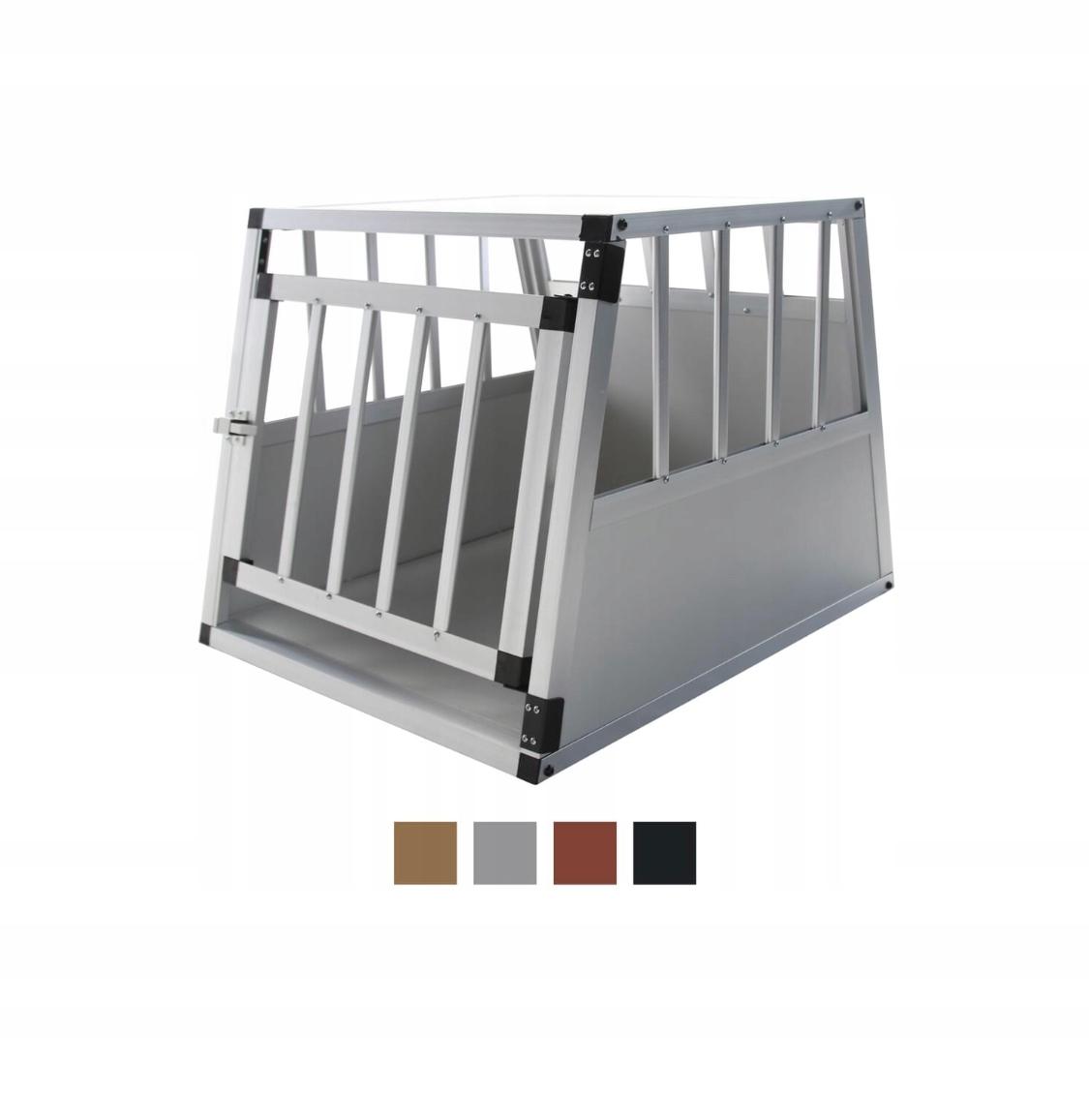 Aluminiowa klatka dla psa Transporter 50 x 54 x 62