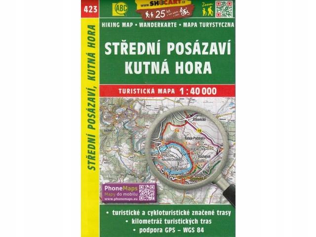 Mapa Stredni Posazavi Kutna Hora 1:40 000