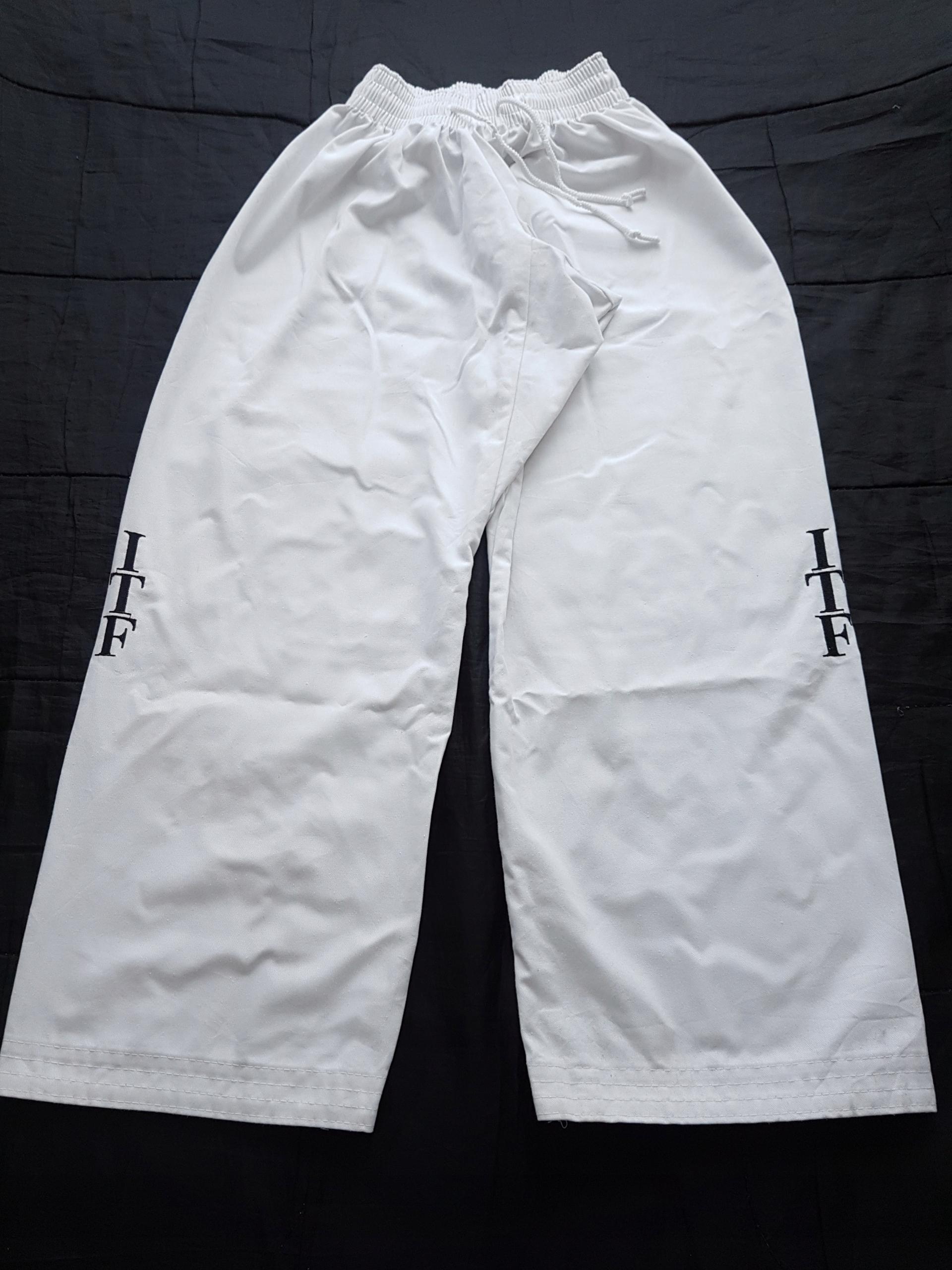 Spodnie kimono białe ITF 160 cm