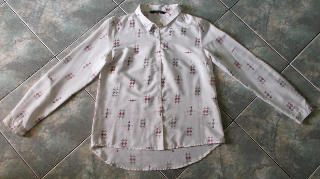 RESERVED śliczna koszulowa bluzka S/36