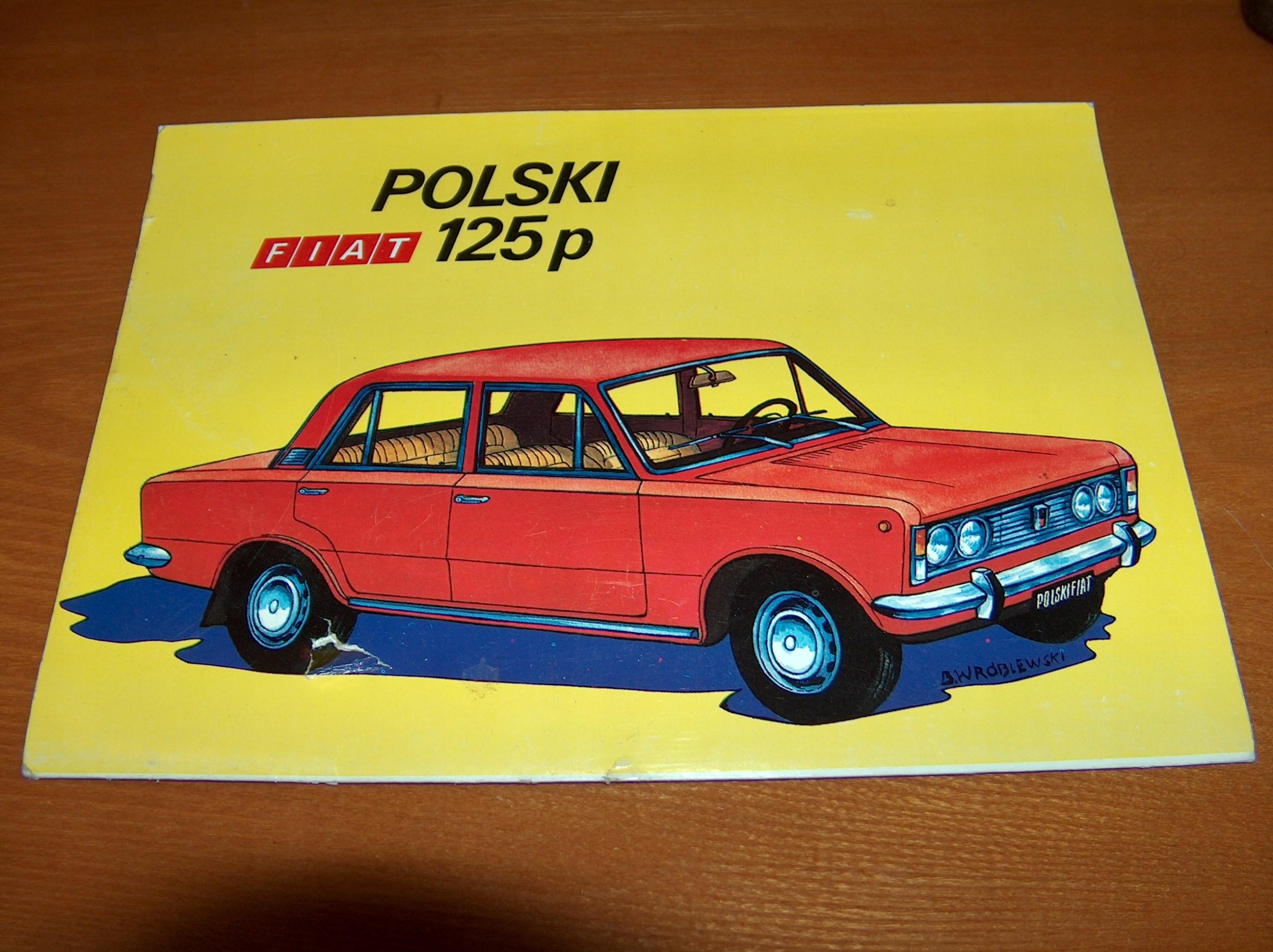 Polski Fiat 125 oryginalny model kartonowy FSO