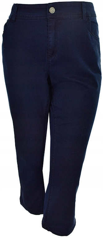 gPP3475 JANINA granatowe spodnie jeansowe 46