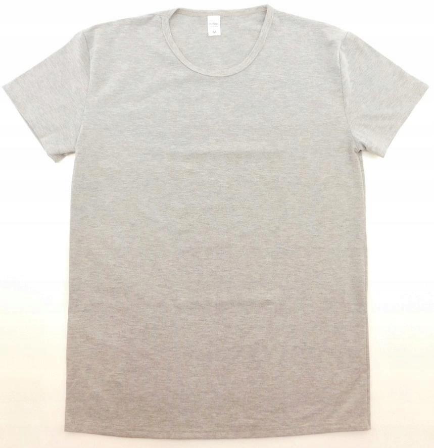 PEIQILE-2211 T-shirt męski jakość szary r.M
