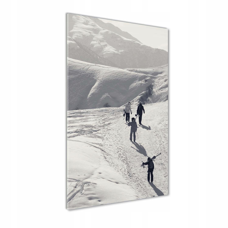 Foto obraz szkło hartowane Narciarze 70x140 cm
